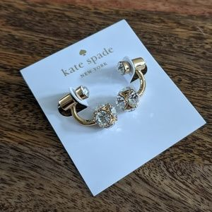 Kate Spade Gold Marmalade Double Earrings NWT
